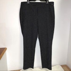 NEW Talbots Chatham Ankle Pants Size 14 Black Dots